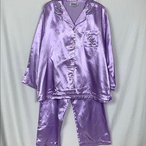 Anthony Richards 2pc. Lavender pajama set 1X